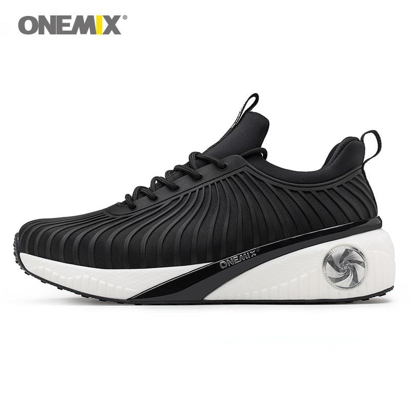 ONEMIX femmes sneakers hauteur croissante chaussures pour de marche en plein air lumière cool haute baskets de jogging déodorant humidité dissiper