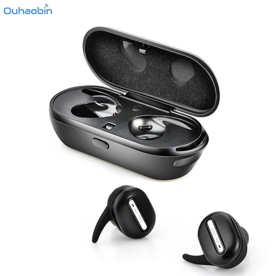 Ouhaobin Mini Twins Wireless Bluetooth Stereo Headset In-Ear Earphones Earbuds For Phone Fashion High Quality Headsets Sep5