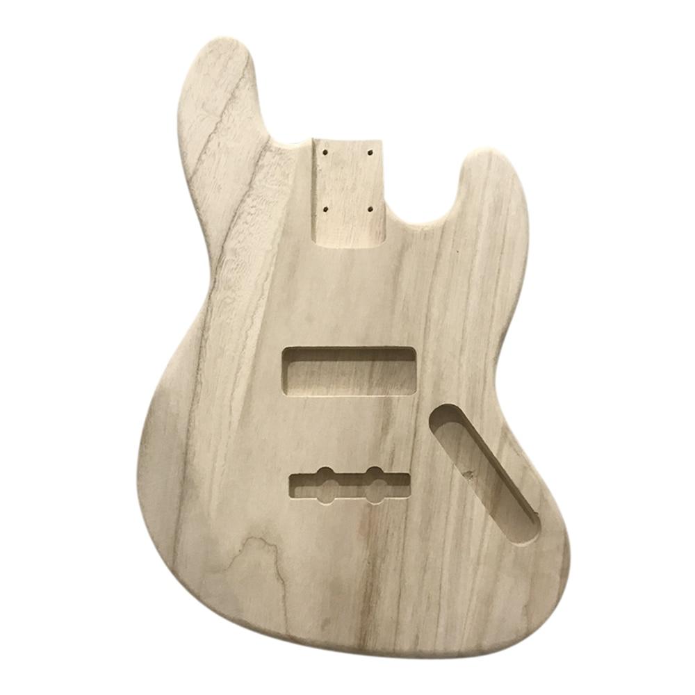 Accessoires de guitare Type bois poli guitare électrique baril bricolage électrique érable guitare corps de baril pour guitare basse Style JB