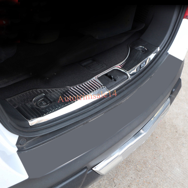 Steel Bright Chromed Interior Boot Trunk Guard Sill Plate for Opel Mokka/Buick Encore 2013-2017 lsrtw2017 304 stainless steel car window trims for opel mokka buick encore bitter mokka 2013 2014 2015 2016 2017 2018 vauxhall