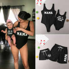 2019 New Family Matching Swimsuit Mother Daughter Kids Baby