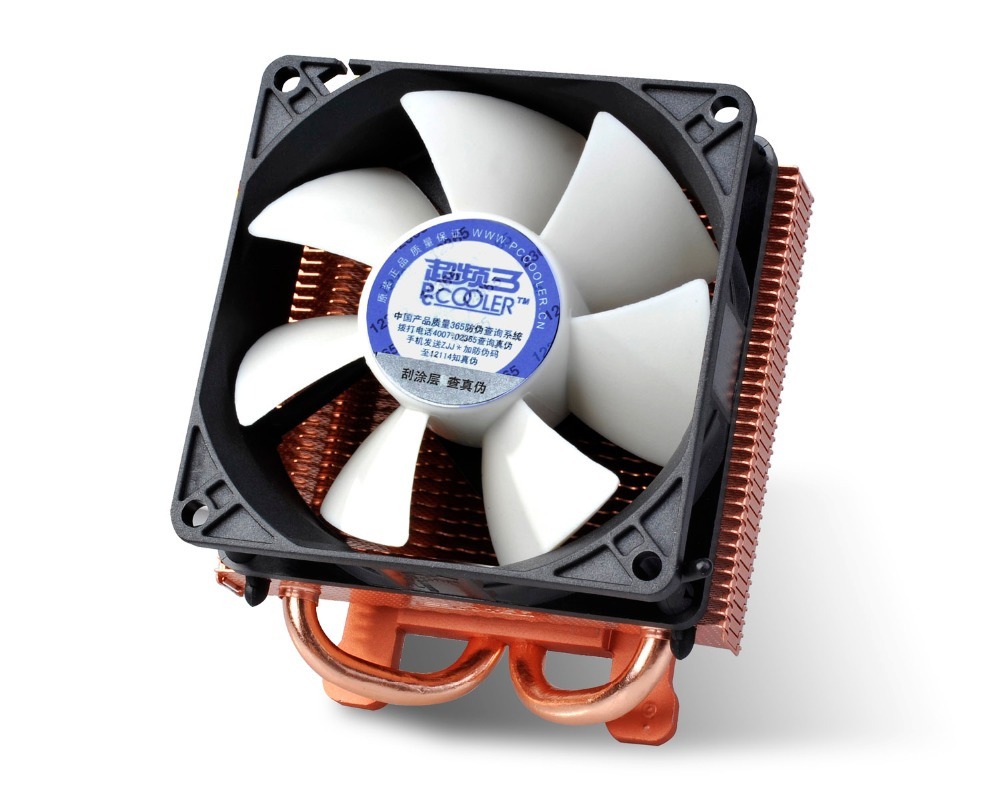 PCcooler K80 80mm fan 2 heatpipe Graphics cooler, graphics card cooler cooling VGA 8cm fan GPU radiator computer radiator cooler of vga graphics card with cooling fan heatsink for evga gt440 430 gt620 gt630 video card cooling