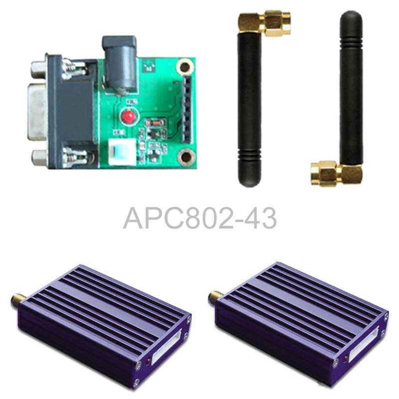 APC802 with shell / wireless module / with a serial set board set esp 07 esp8266 uart serial to wifi wireless module