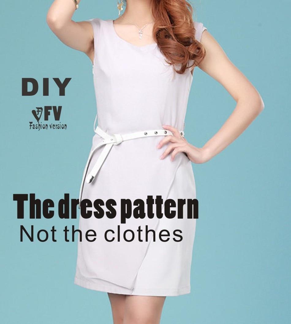 Φ_ΦRopa DIY el vestido Vestidos Costura patrón de corte de dibujo ...