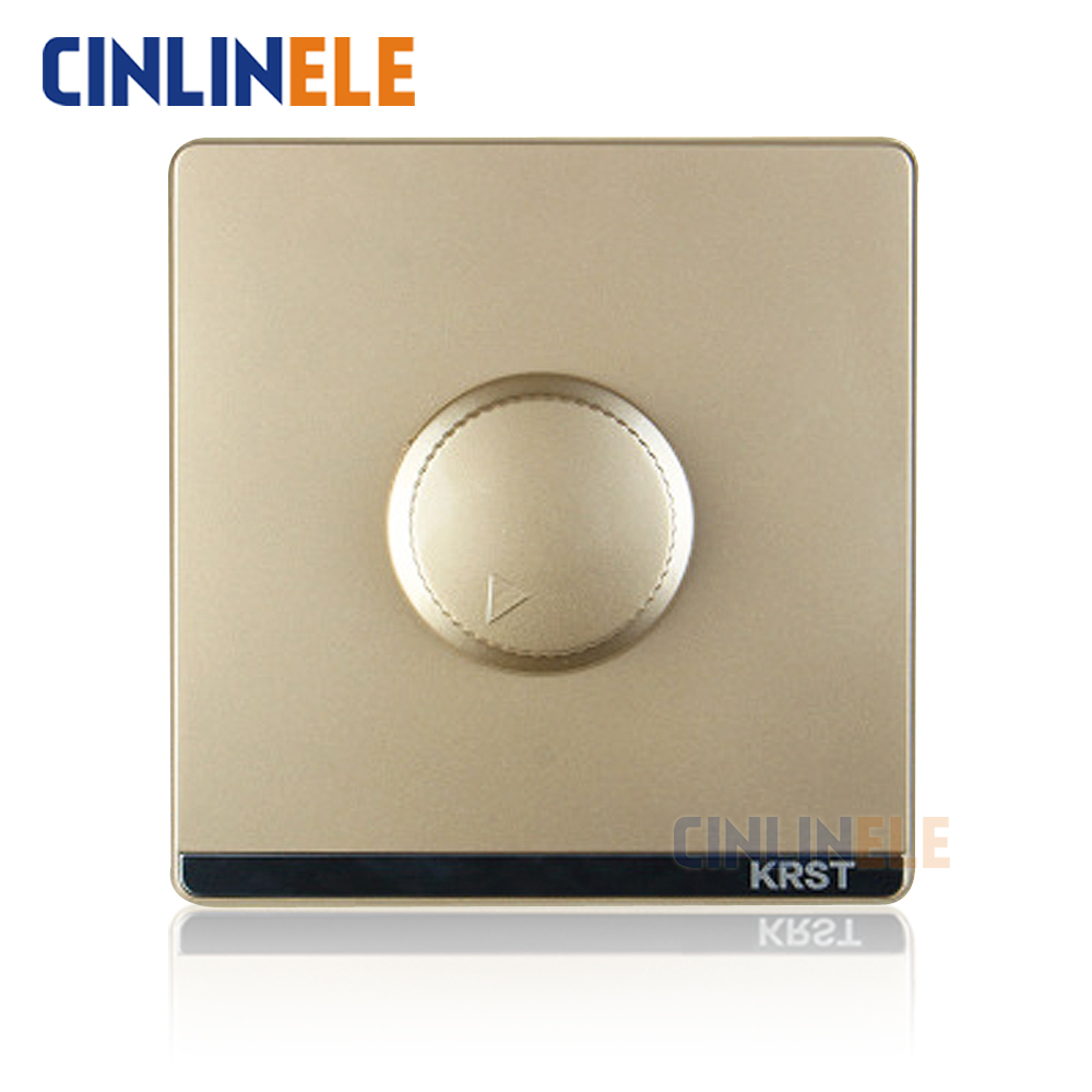 1Pcs Luxury Wall Switch, Rotary Wall Switch, Fine tune switch,Ivory Gold,Light Switch, AC 110~250V 10A No border design 86mm 660v ui 10a ith 8 terminals rotary cam universal changeover combination switch