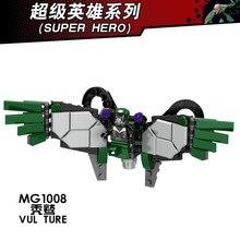 Única Venda Super Heróis Vilões Figura de Ação do Homem-Aranha Building Block Bricks DIY Brinquedos do Presente Das Crianças MG1008 Abutre