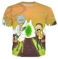 Verão Os Novos homens/mulheres Rick e Morty engraçado t camisa Dos Desenhos Animados t-shirt camisa 3d t camisa masculina plus size tamanho S-XXXL