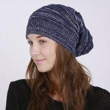 Men's Skullies Beanies Women's Hat Fashion Mixed Color  Unisex Elastic Knit  Winter Hat