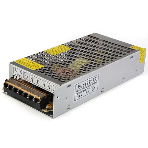 WSFS Hot Sale 200W Switch Power Supply Driver for LED Strip Light DC 12V 17A 12v 3 2a 40w switch power supply driver for led light strip 110v 220v