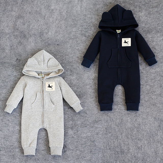 Fashion Newborn rompers bebes Baby boy Romper branded Newborn baby clothes cartoon fox long Sleeve Baby girl outfits Clothes