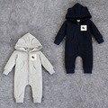 Moda marca bebes bebé Mameluco mamelucos Recién Nacidos ropa de bebé Recién Nacido de dibujos animados fox de Manga larga Ropa de niña trajes