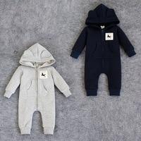 Fashion Newborn Rompers Bebes Baby Boy Romper Branded Newborn Baby Clothes Cartoon Fox Long Sleeve Baby
