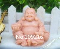 Wholesale! 1 stks lachende boeddha met acer (zx637) siliconen handgemaakte zeep schimmel ambachten diy siliconen mould
