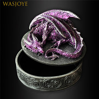 Vintage Resin Dragon Jewelry Boxes Packaging Ring Organizer Storage Box Container Case Gift Box Women Beautiful Package