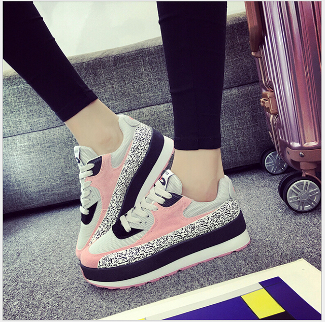 Spring Autumn New Fashion Flats Women Trainers Breathable Sport Woman Shoes Casual Outdoor Walking Women Flats Zapatillas Mujer