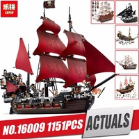 New LEPIN 16009 1151pcs Queen Anne S Revenge Pirates Of The Caribbean Educational Building Blocks Set