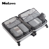 7 Pcs/Set Nylon Unisex Travel Accessories Waterproof Packing Bag Lightweight Clothes Luggage Bags for Shirts Zipper Handbags