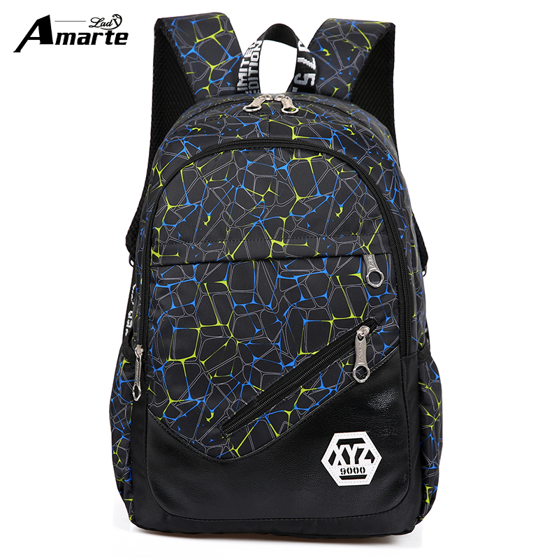 Amarte Women Backpacks for Teenage Girls nylon School Bag Fashion Female Travel Shoulder Bag Ladies BackBags