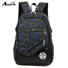 Amarte Women Backpacks for Teenage Girls nylon School Bag Fashion Female Travel Shoulder Bag Ladies BackBags mochila