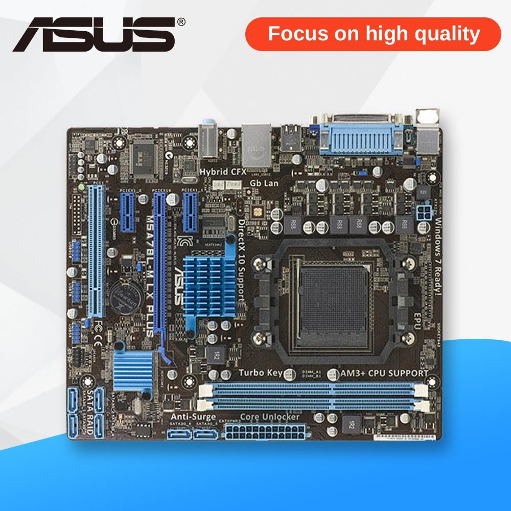Asus M5A78L-M LX PLUS Desktop Motherboard 760G Socket AM3+ DDR3 16G SATA2 USB2.0 Micro ATX original desktop motherboard m5a78l m lx3 plus for asus 780 series