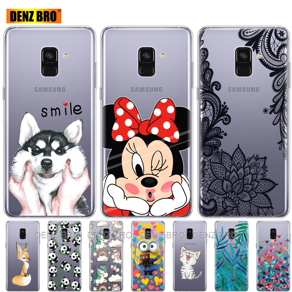 Silicone phone Case For Samsung Galaxy A8 2018 A530 A530F silicon Covers For Samsung A8 Plus 2018 A730 A730F Clear Case