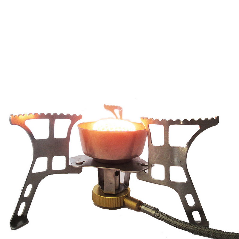 1 PC Portable BBQ Stove Split Stove Outdoor Windproof Gas Burner Cooking Camping Stove VEN16 P25
