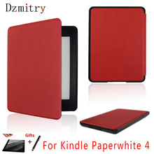 For Amazon 2018 kindle 10th ebook case Ultra slim Flip Stand cover kindle paperwhite 4 eReader Protective shell+Film+Stylus Pen high quality real genuine leather mangetic stand cover protective shell case for amazon kindle oasis 6 inch ereader tablet