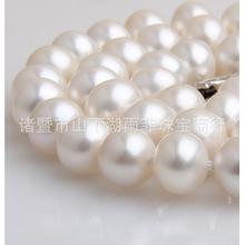 Eternal wedding Women Gift word 925 Sterling silver real natural big Zhuji freshwater pearl necklace, S9