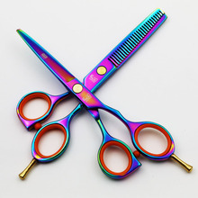 Фотография 5.5 Inch Professional Hairdressing Scissors Cutting and Thinning Scissors Shears High Quality Salon Products Hair Styling Tools