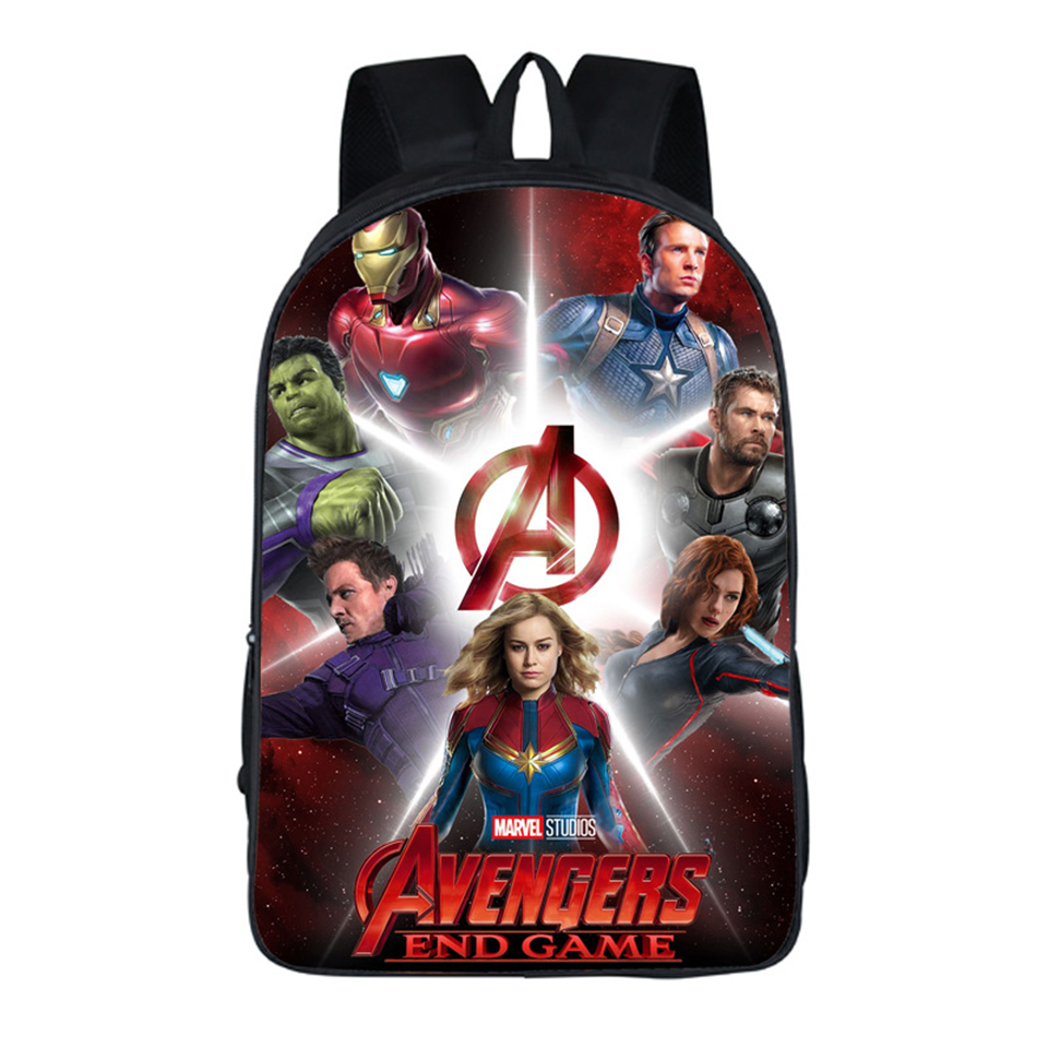 Avengers 4 Final Battle Schoolbag For Boy Girl Student Adult Waterproof Polyester Backpack Composite scool  Mochila Bags