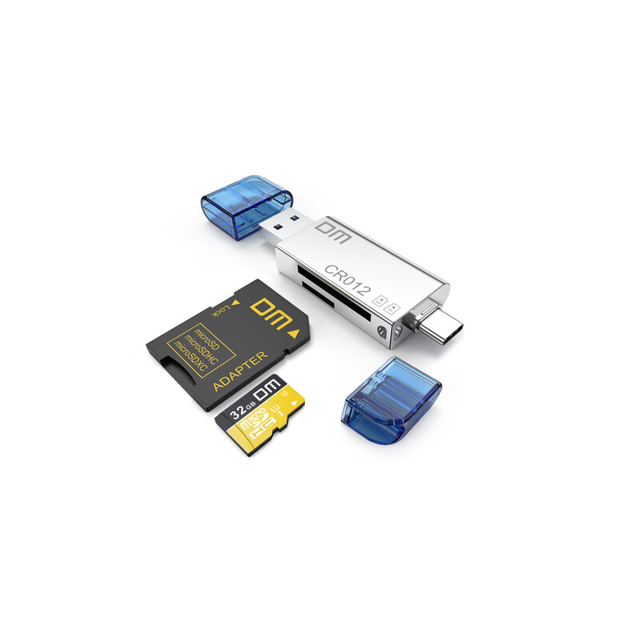 DM CR012 czytnik kart USB 3.0 SD/Micro SD TF OTG inteligentny karty pamięci adapter do laptopa USB 3.0 typu C czytnik kart czytnik kart SD