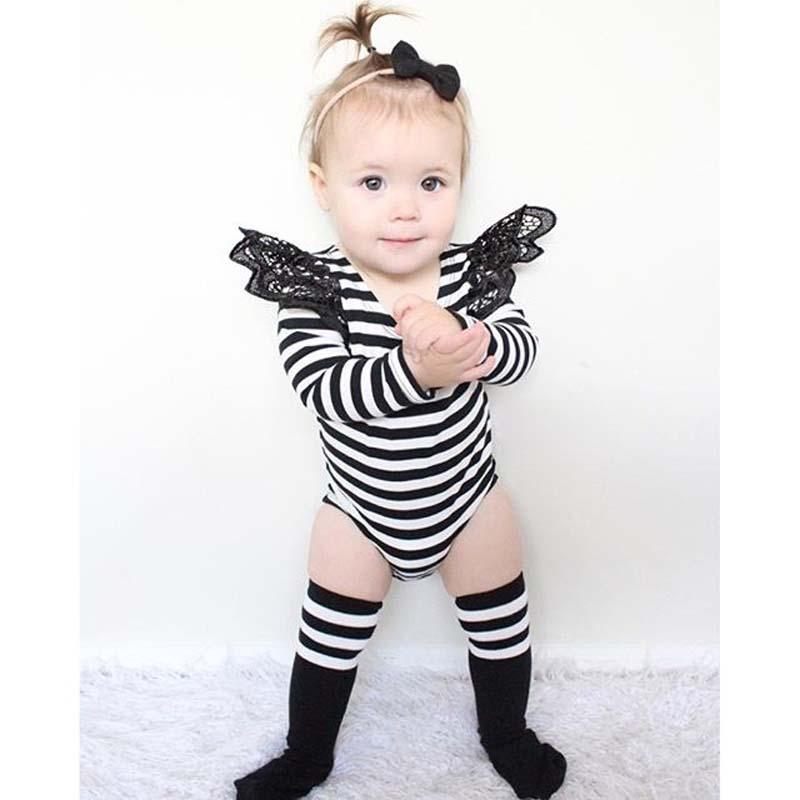 CN 0-2 жастағы қыз балалар киімі Stripe - Балаларға арналған киім - фото 1