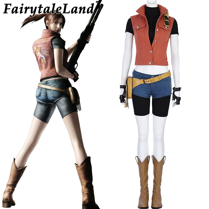Resident Evil 7 Claire Redfield Cosplay Costume De Noël Halloween Party Cosplay Costume Femmes Sexy Costume Cosplay Claire Costume