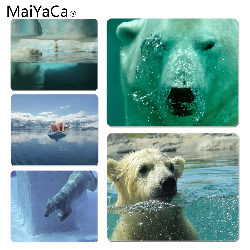 MaiYaCa Underwater polar bear Customized laptop Gaming mouse pad Size for 18x22x0.2cm Gaming Mousepads