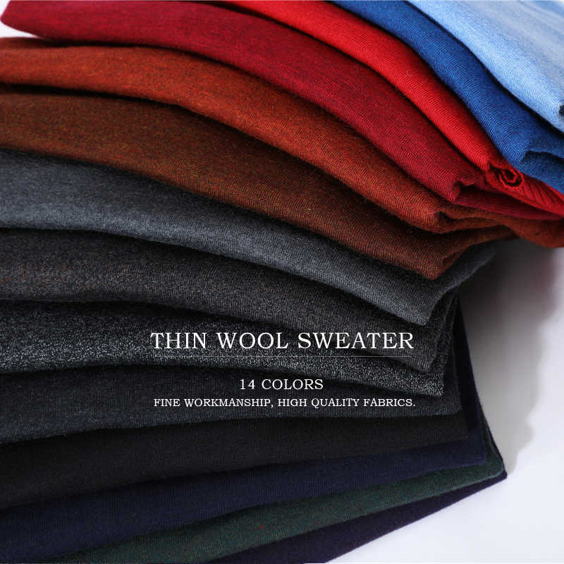 Мужской трикотажный свитер, синий повседневный пуловер с V-вырезом, тонкий свитер, приталенный силуэт, 14 цветов, одежда для мужчин на осень 2019