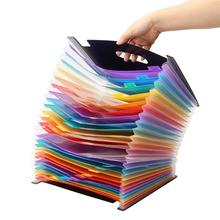 24 Pockets Expanding File Folder Portable waterproof Rainbow Document Organizer with Expandable Stand Office Supplies