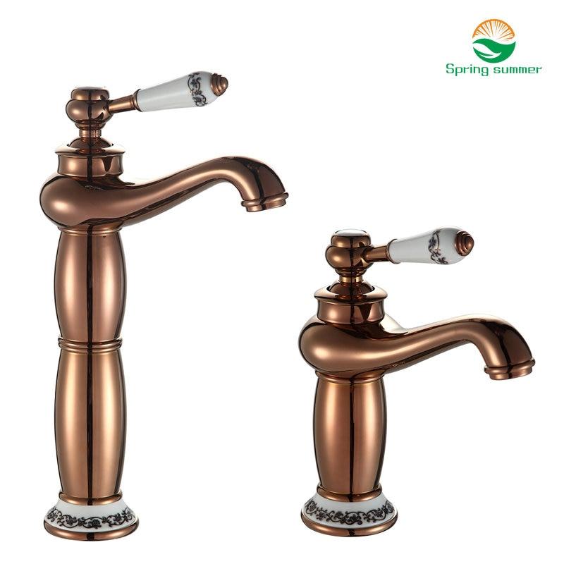 SPRING SUMMER Bathroom Faucet Antique bronze finish Brass Basin Sink Faucet Single Handle water taps DKSR-1001