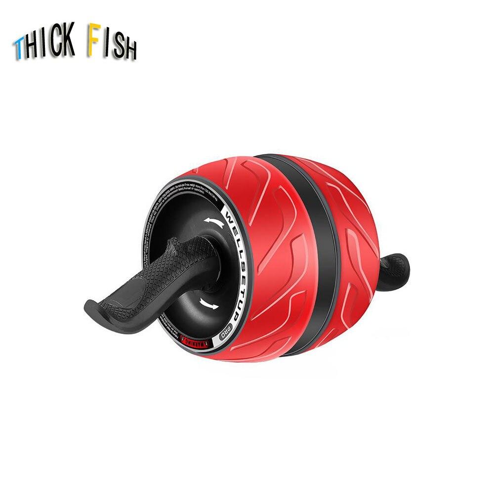 Abdominal Wheel Mens Sports Training Fitness Equipment Home Abdomen Mute Wheel Ab Roller ...