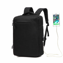High Capacity Laptop Backpack Men 15.6inch Office Work Business Bag Unisex Black Ultralight Thin Back Pack