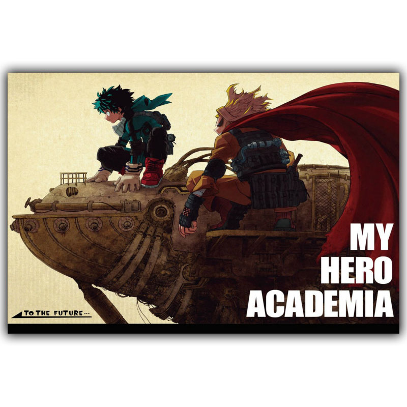 Boku No Hero Academia Silk Canvas Wallpaper Print Poster