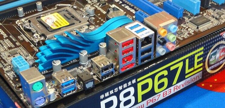 משלוח חינם מקורי לוח אם ASUS P8P67 LE DDR3 LGA 1155 RAM 32G לוחות אם SATA3.0 USB3.0 mainboard