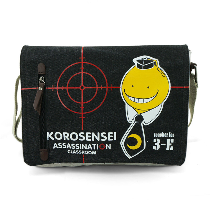 New Hot Sale Assassination Classroom Shoulder School Bag Students Canvas Travel Messenger Bags Free Shipping