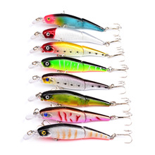 92mm 7.2g 2 Jointed Fishing Lures 3D Eyes Wobbler Crankbait Bionic Sinking Slowly Bait Isca Artificial Accessories Bait Pesca noeby pencil bait 140mm 66g 160mm 97 5g 180mm 145g sinking glide bait fishing lures leurre peche isca artificial pesca wobbler