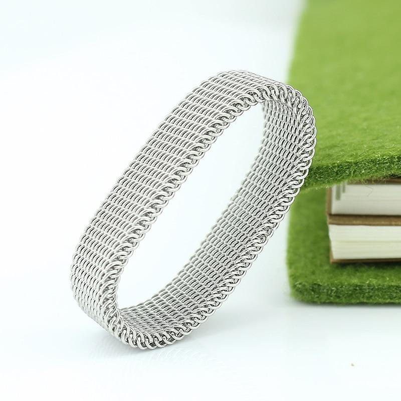 Penghantaran Percuma 8mm lebar keluli tahan karat cincin titanium - Perhiasan fesyen - Foto 4