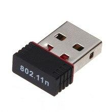 미니 USB 2.0 802.11n 표준 150Mbps Wifi 네트워크 어댑터 지원 Windows Vista MAC Linux PC 용 64/128 비트 WEP WPA 암호화