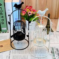 Metal Hanging Design Lantern Candlestick Bird Cage Candle Holder Wedding Home Decoration T20