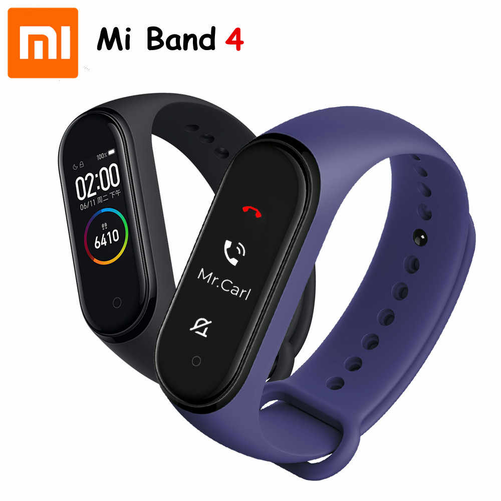 In Stock Hot Xiaomi Mi Band 4 Smart Amoled Colorscreen Bracelet Heart Rate Fitness Bluetooth5 0 50mswimming Waterproof Mi Band 4 Smart Wristbands Aliexpress