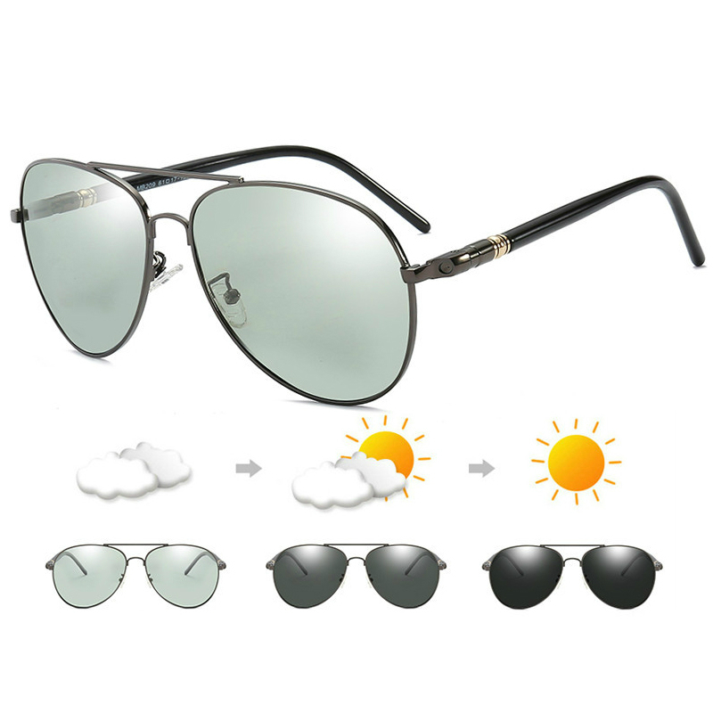 291.77руб. 30% OFF|2019 Change Color Men Sunglasses RB209 Design Photochromic Sunglasses Men Polarized Sunglesses Driving Chameleon Sun Glasses|Men