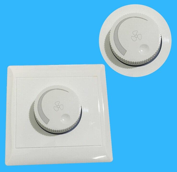 220V 10A Ajuste del ventilador de techo Interruptor de Control de Velocidad Botón de pared interruptor de atenuación lirunzu