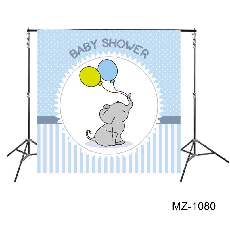 100% Wahr Huayi Baby Dusche Hintergrund Niedlichen Elefanten Hintergrund Photo Booth Shower Blau Töpfe Fotografieren Dessert Tisch Decor Mz-1080